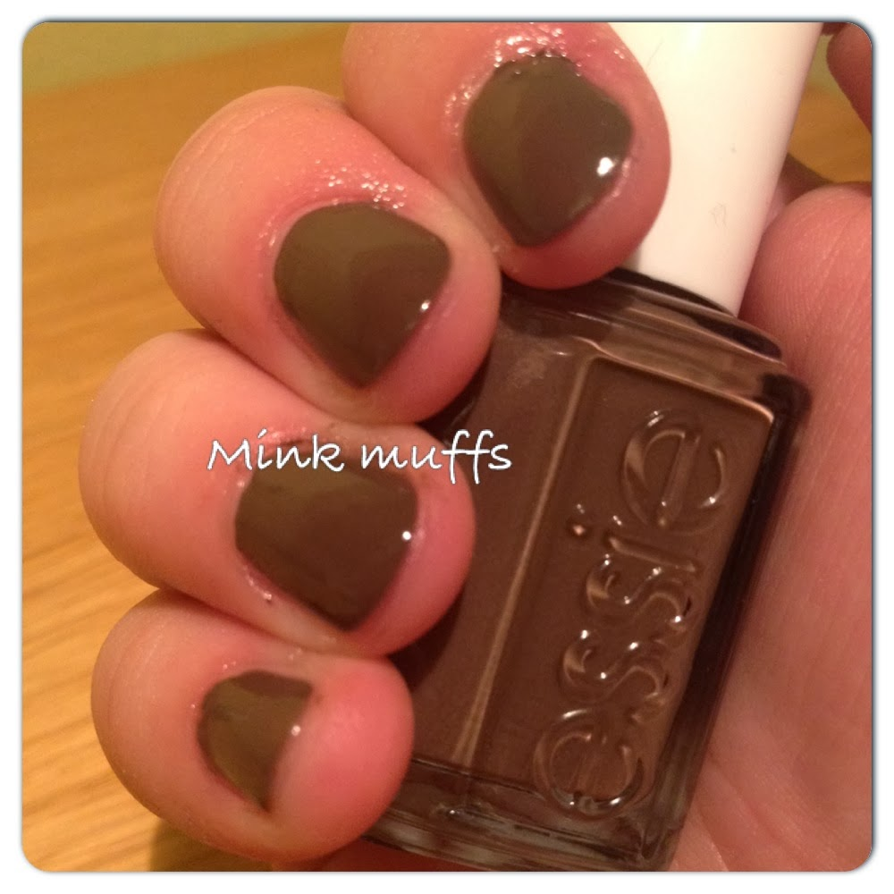 pink diamond nail of the day notd essie mink muffs. Black Bedroom Furniture Sets. Home Design Ideas