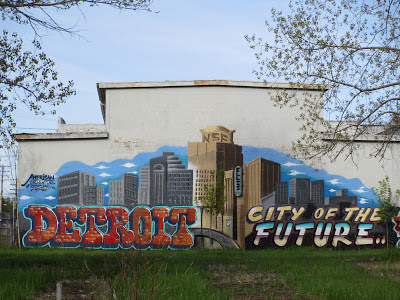 Detroit city of the future mural