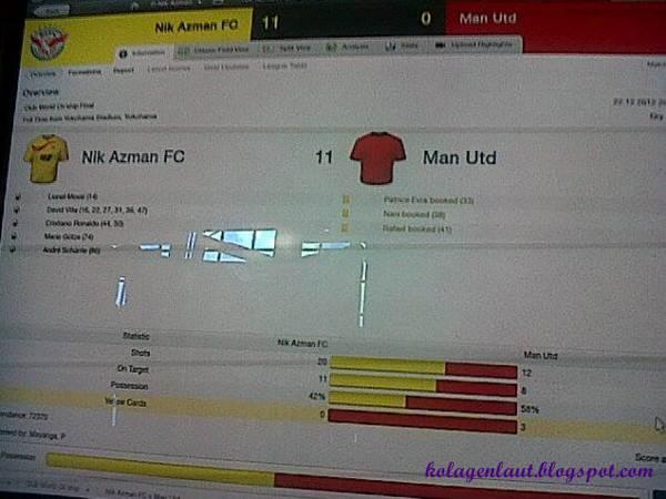 dapat belasah Manchester United 11-0 dalam perlawanan akhir Club World Championship..