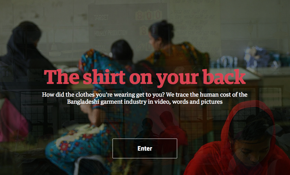 The shirt on your back -- an interactive documentary from The Guardian