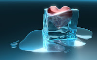 papel de parede coração congelado