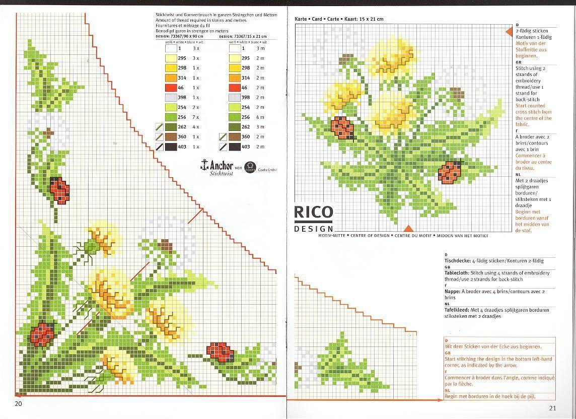 Программа для создания схем вышивки подсолнухи6