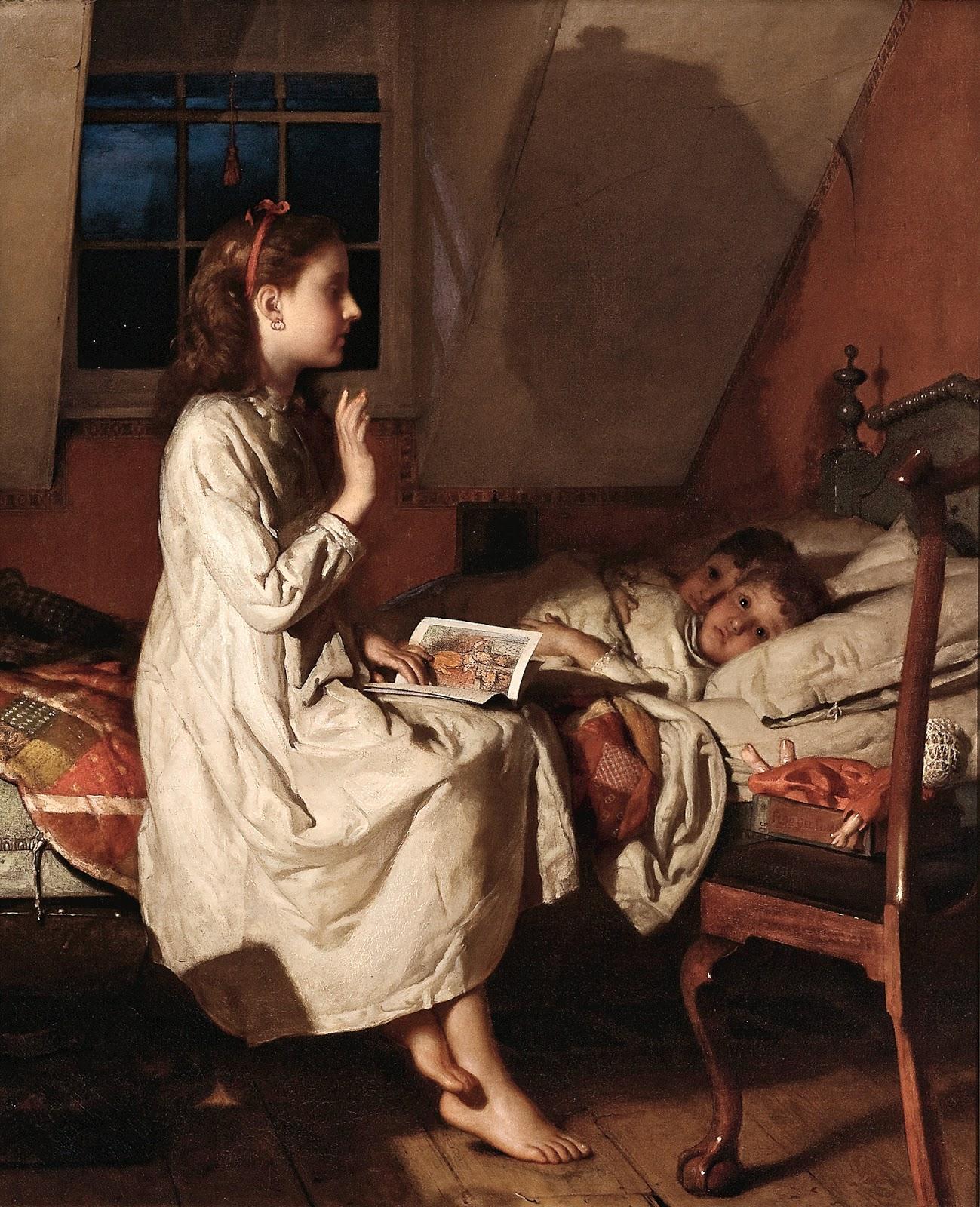 Story Of A Kashmiri S Girl By: 19th Century American Paintings: Seymour Joseph Guy