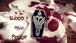 Blood+ Hagi inspired felt pouch Bubs B4Astudios