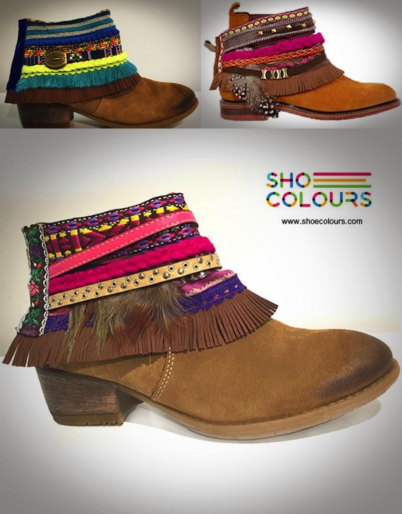Shoe Colours -botas  camurça estilo étnico ankle boots