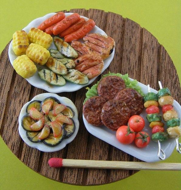 BBQ Sculpture, Shay Aaron,miniature food sculpture