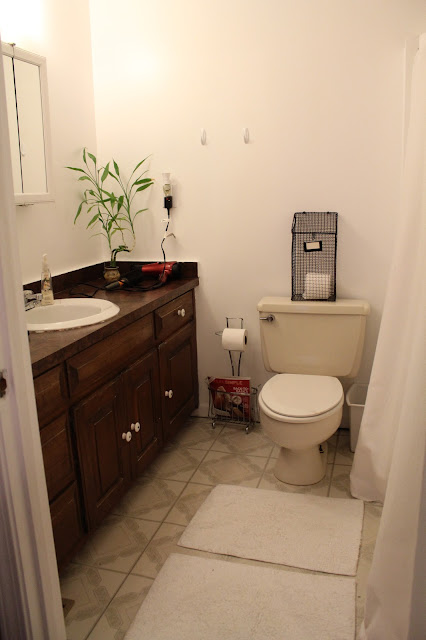 linoleum floor rugs ten june rental master bathroom updates