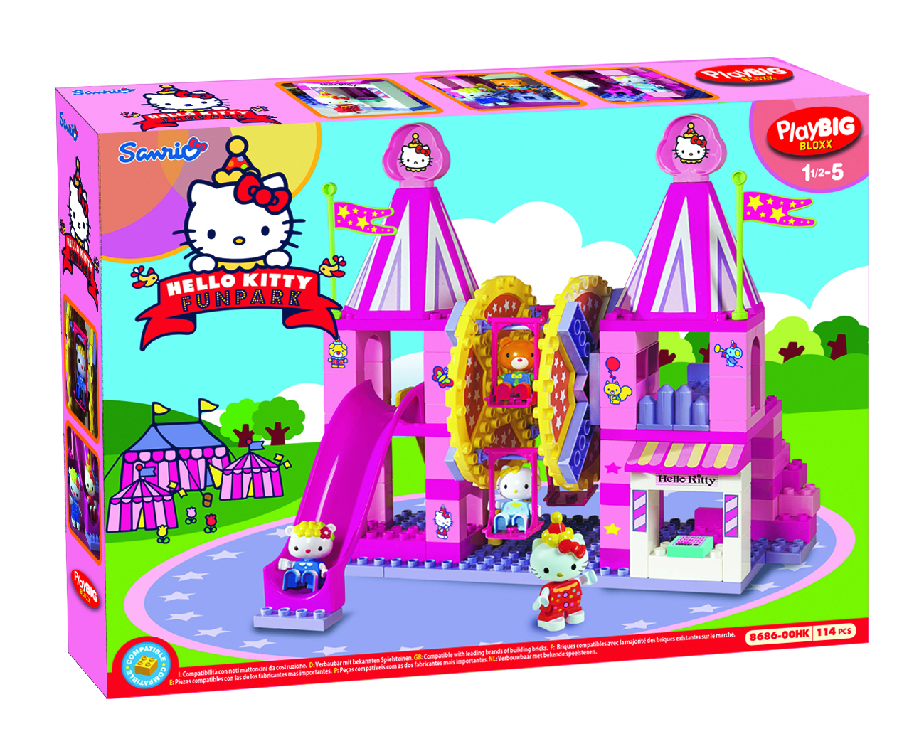 Hello Kitty Toys Set : Brickstoy new hello kitty building blocks set available