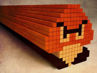Cool retro pixel art Mario game desktop wallpaper