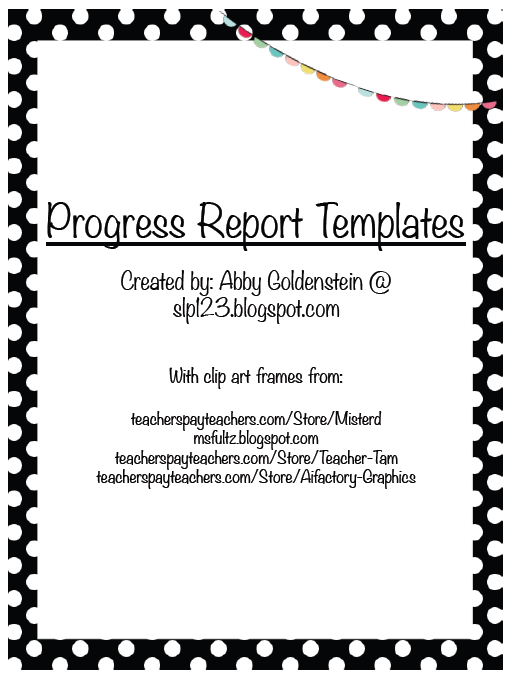 three templates to use for your spring progress reports