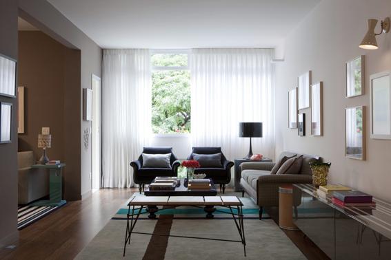 Sala De Tv Pequena E Estreita ~ AMC  Arquitetura Sala estreita e comprid