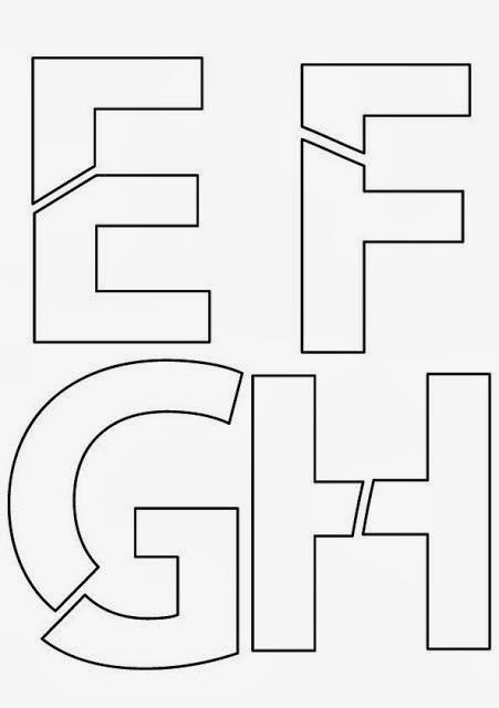 Moldes de Letras EFGH