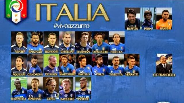 قائمة منتخب ايطاليا النهائية لمونديال البرازيل