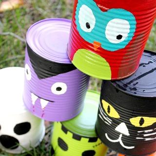Juegos con latas: desplazamientos