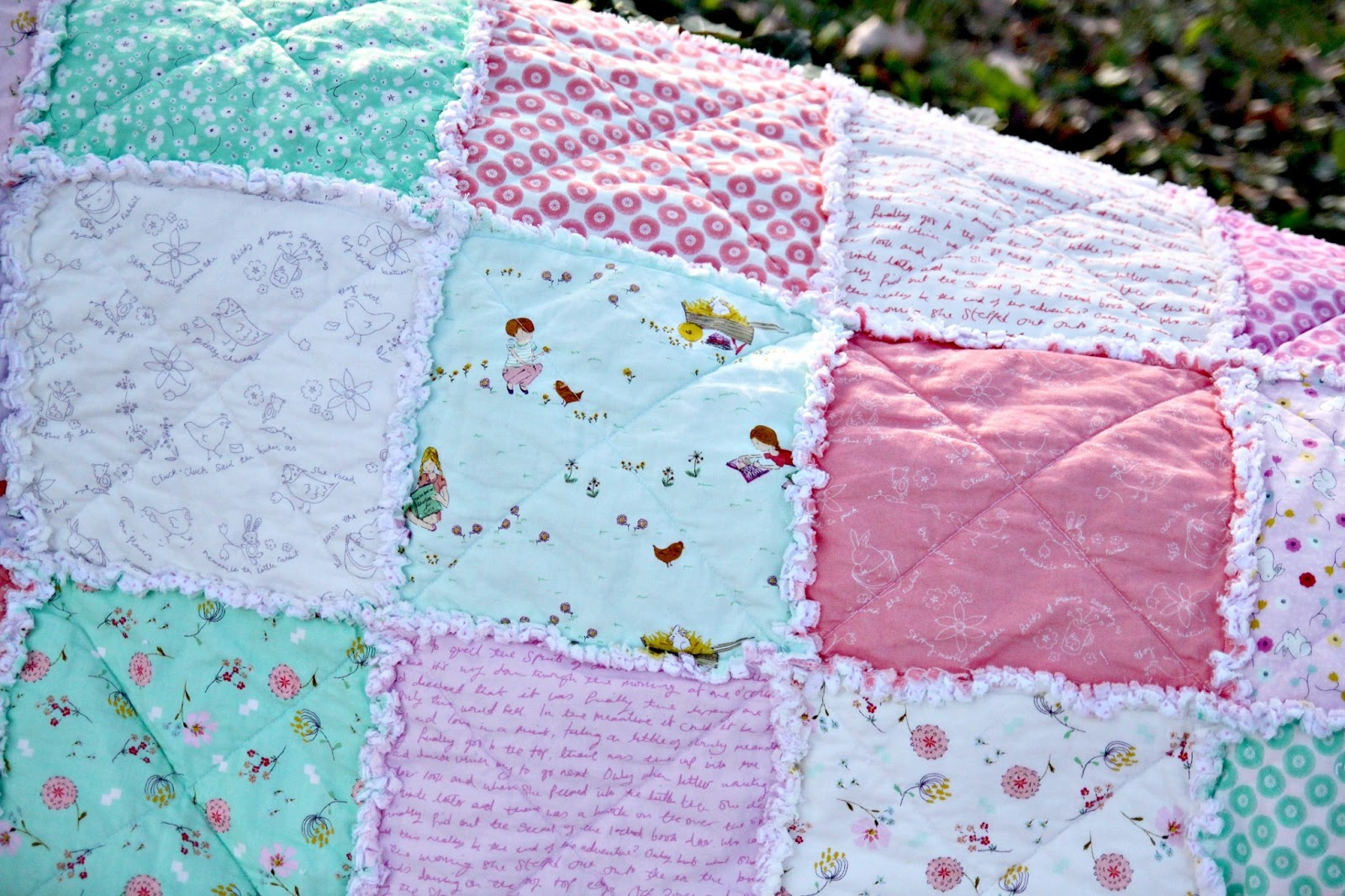 Some Bunny Loves You: Easy Rag Quilt Tutorial - The Cottage Mama : rag quilt how to - Adamdwight.com
