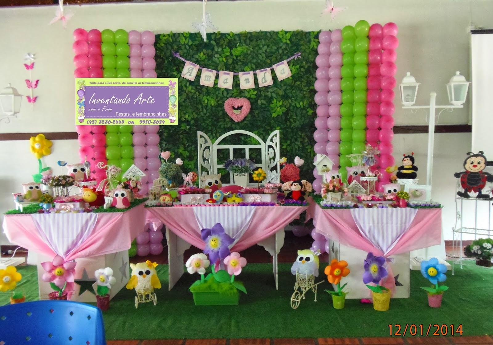 festa decoração jardim flores