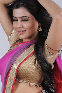 Samantha Recent Hot Navel Stills In Saree