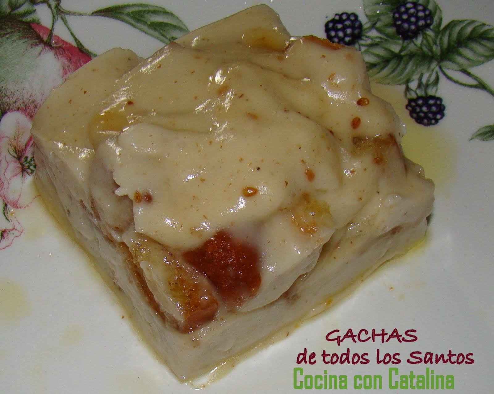 Cocina con catalina gachas del dia de todos los santos for Videos de cocina para todos