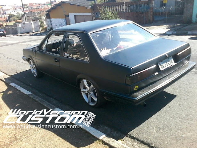 Carro do Internauta: Santana 86 Preto Fosco na Fiixa + Rodas aro 17""