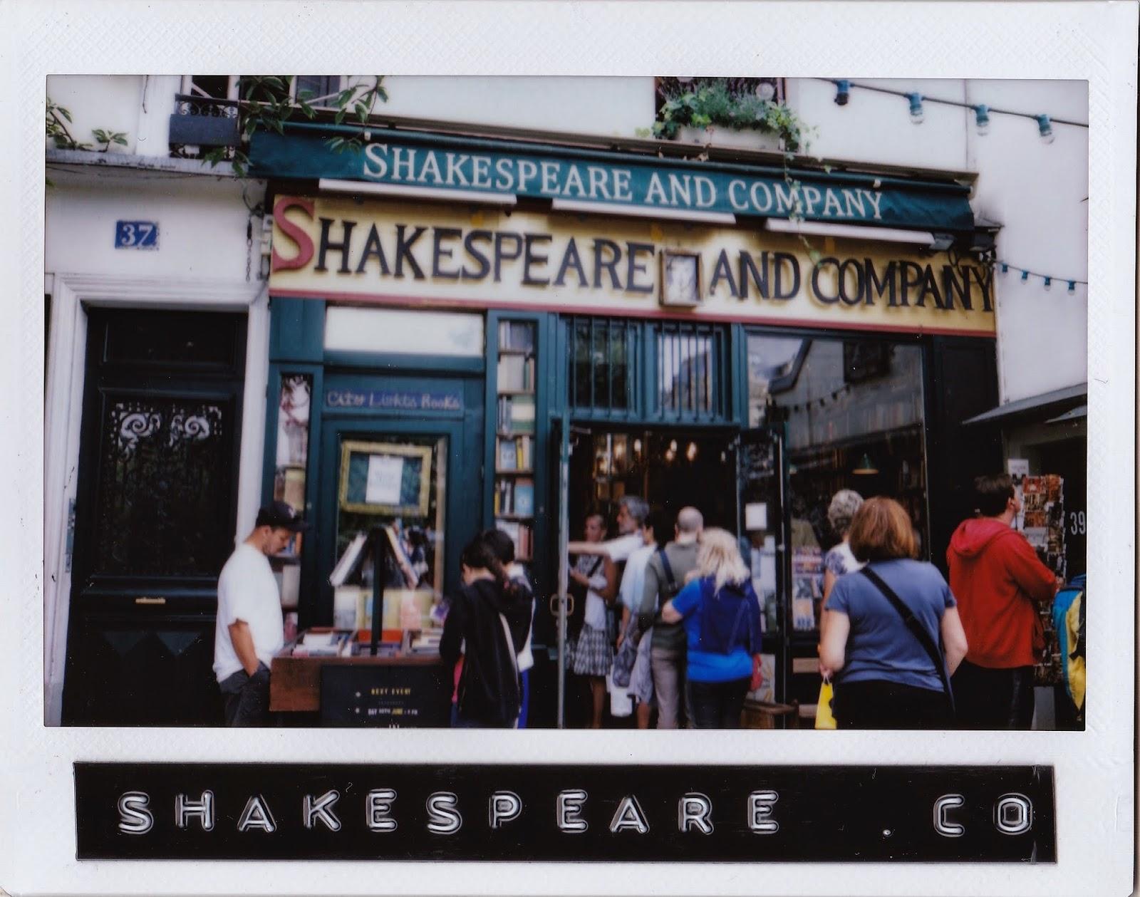 shakespeare and company polaroid