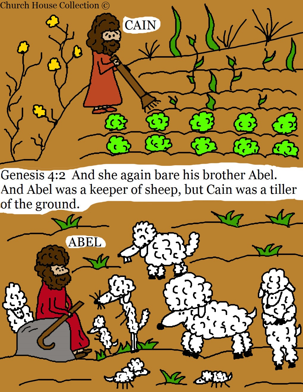Church house collection blog cain and abel coloring pages for Cain and abel crafts