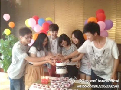 Greyson cuts his Birthday cake in China July 2012