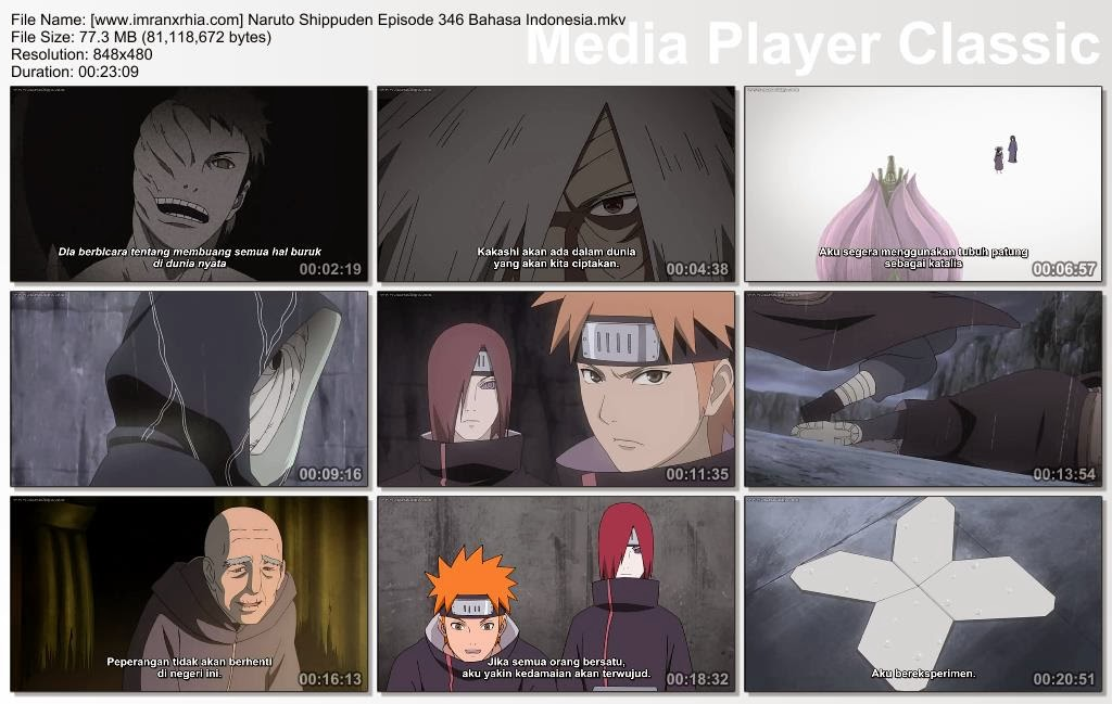 "Download Film / Anime Naruto Episode 346 ""Dunia Impian"" Shippuden Bahasa Indonesia"