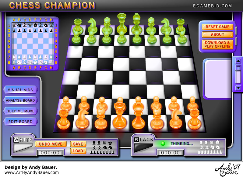 art by andy bauer flash game chess champion