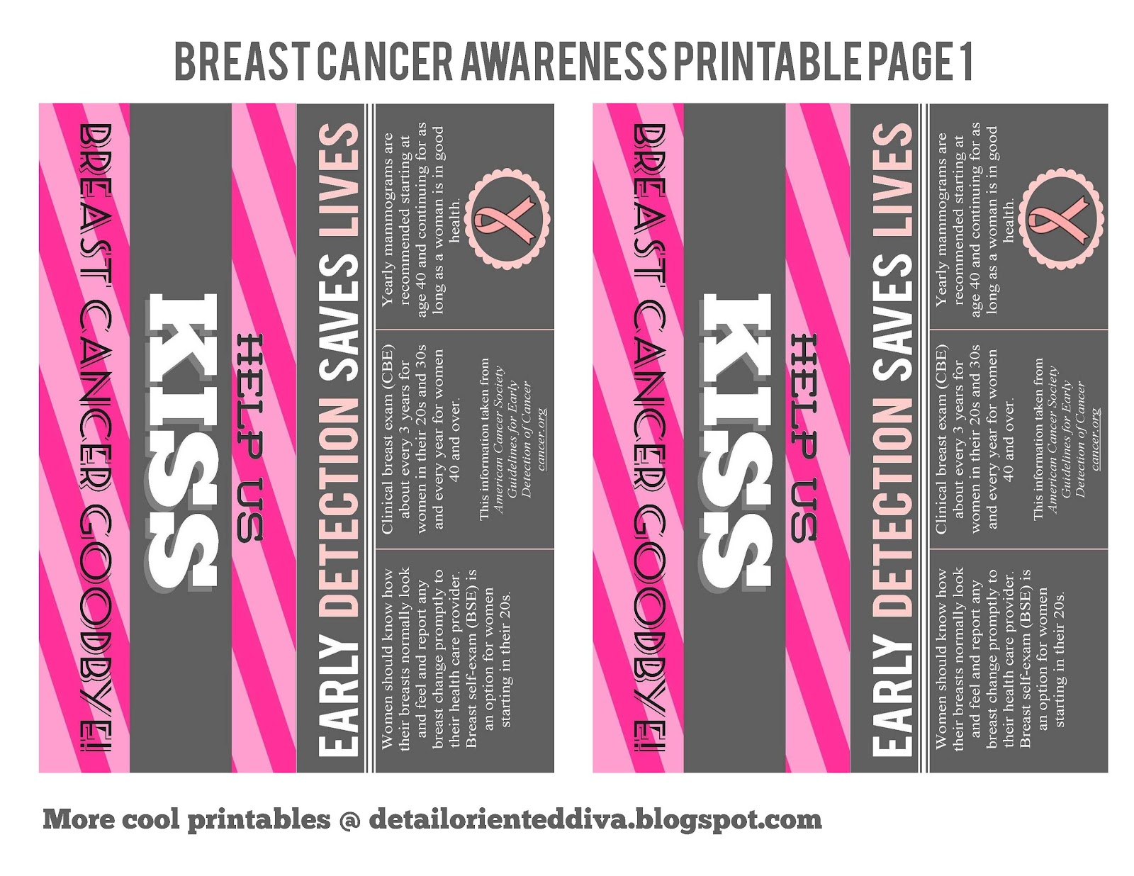 Breast Cancer Cards Printable http://oneshetwoshe.com/2012/09/breast-cancer-awareness-printables-she-natalie.html