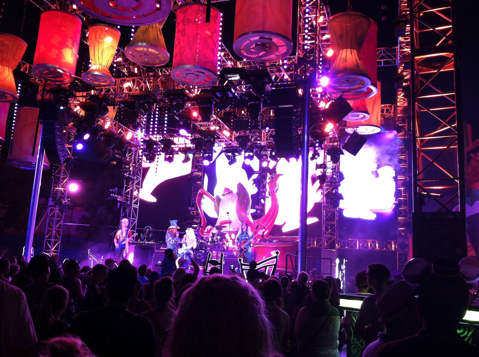 The Mad Hatter and Alice rock out on the Mad T Party stage