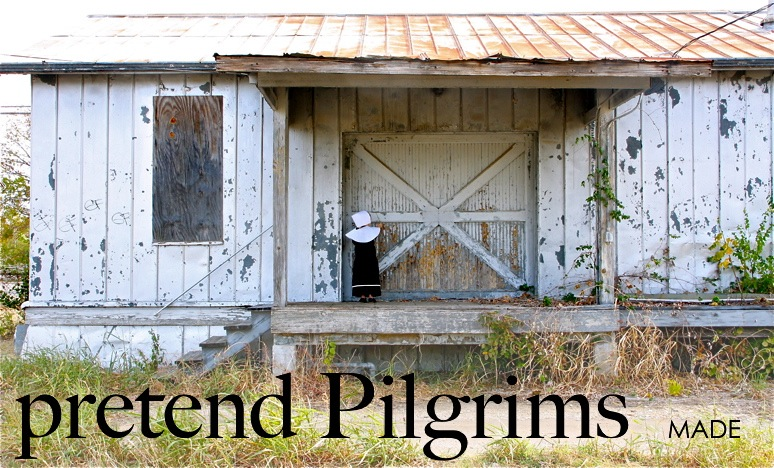 Pretend pilgrims made everyday then make thanksgiving dinner more exciting with simple pilgrim costumes a vest a shawl two little hats and youre set theyll love you for it solutioingenieria Choice Image