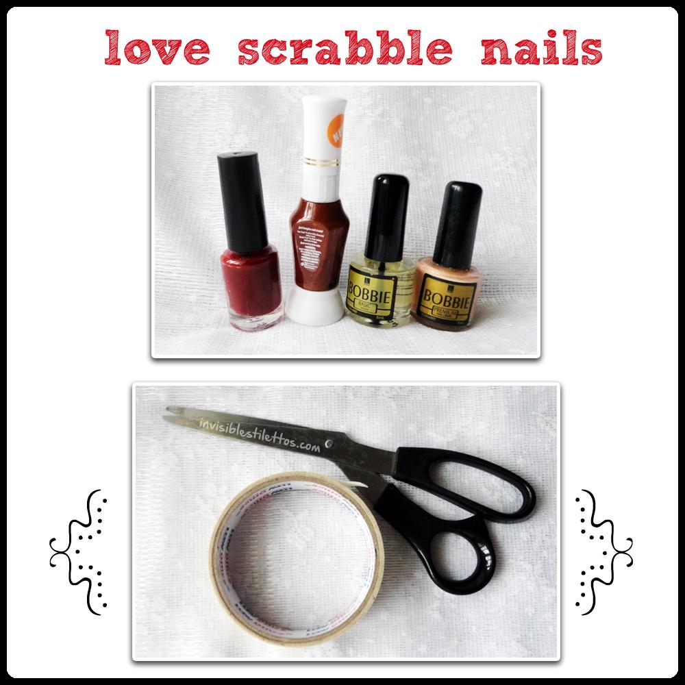 Love Scrabble Nails Materials