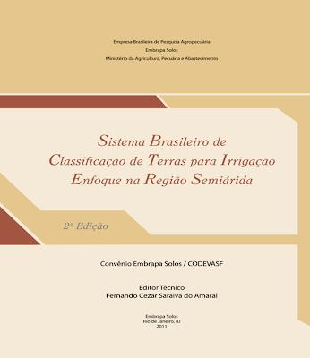 Publicação: Sistema Brasileiro de Classificação de Terras para Irrigação - Enfoque na Região Semiárida