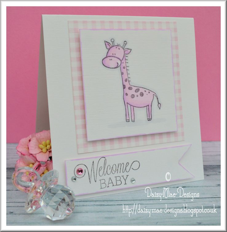 baby, girl, giraffe, gingham