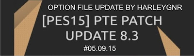 PES 2013 Option File Update PTE 8.3 #05.09.15 by HarleyGnr