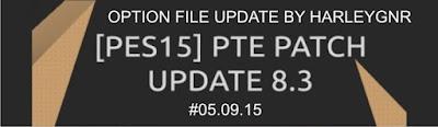 PES 2013 Option File Update PTE 8.3 #05.09.15 by HarleyGnr