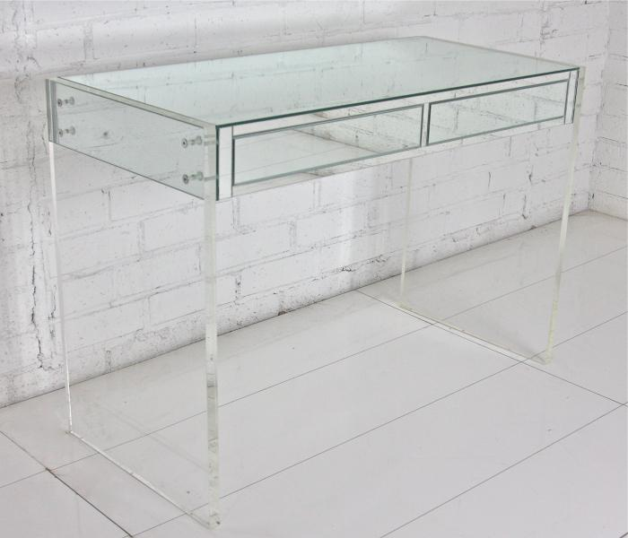 century tall lucite mid x table il market desk etsy