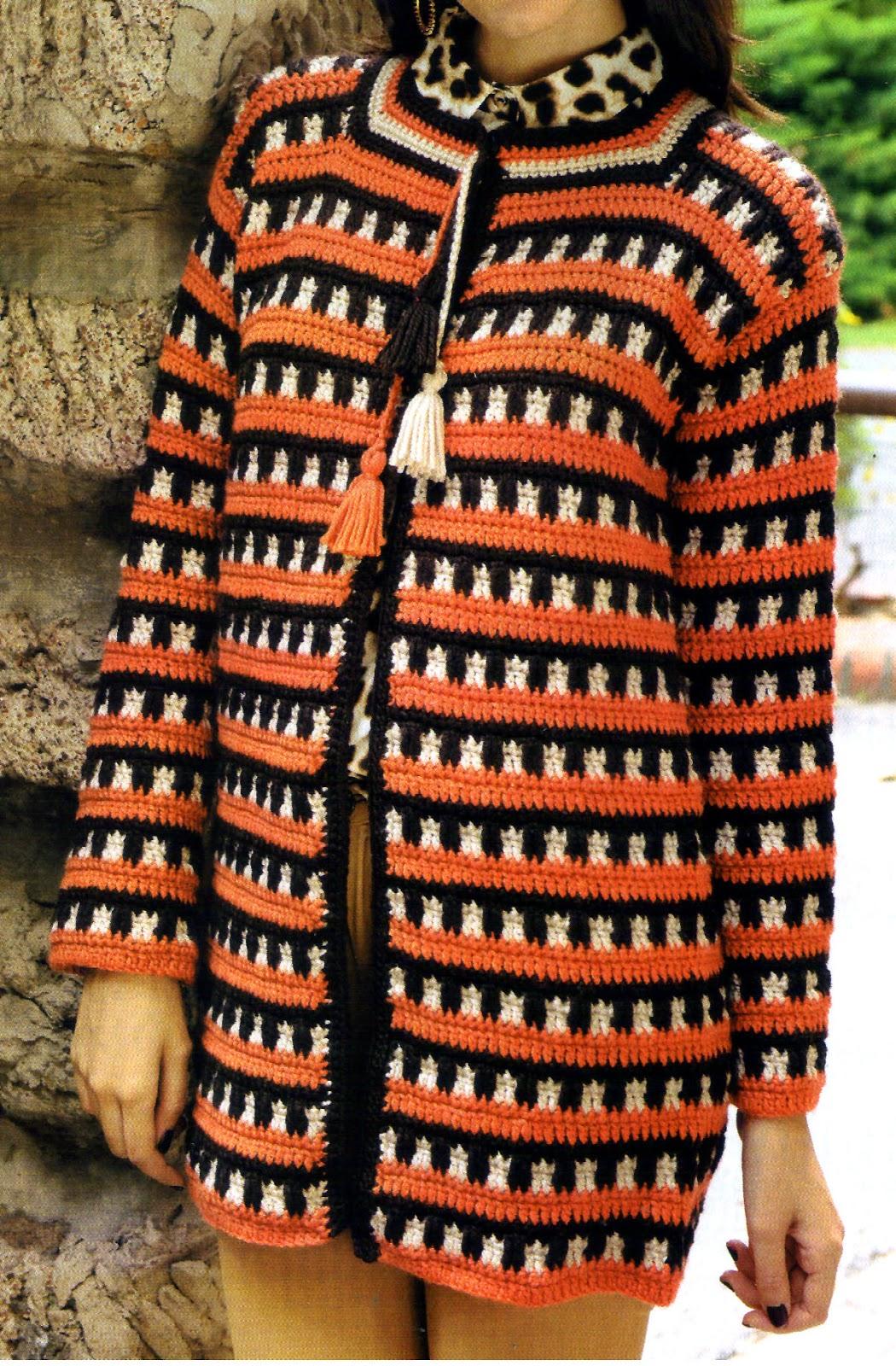 saco entramado tejido en crochet (frente)