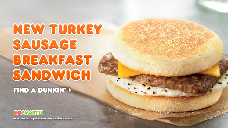 ... Dunkin' Donuts - New Turkey Sausage Breakfast Sandwich | Brand Eating