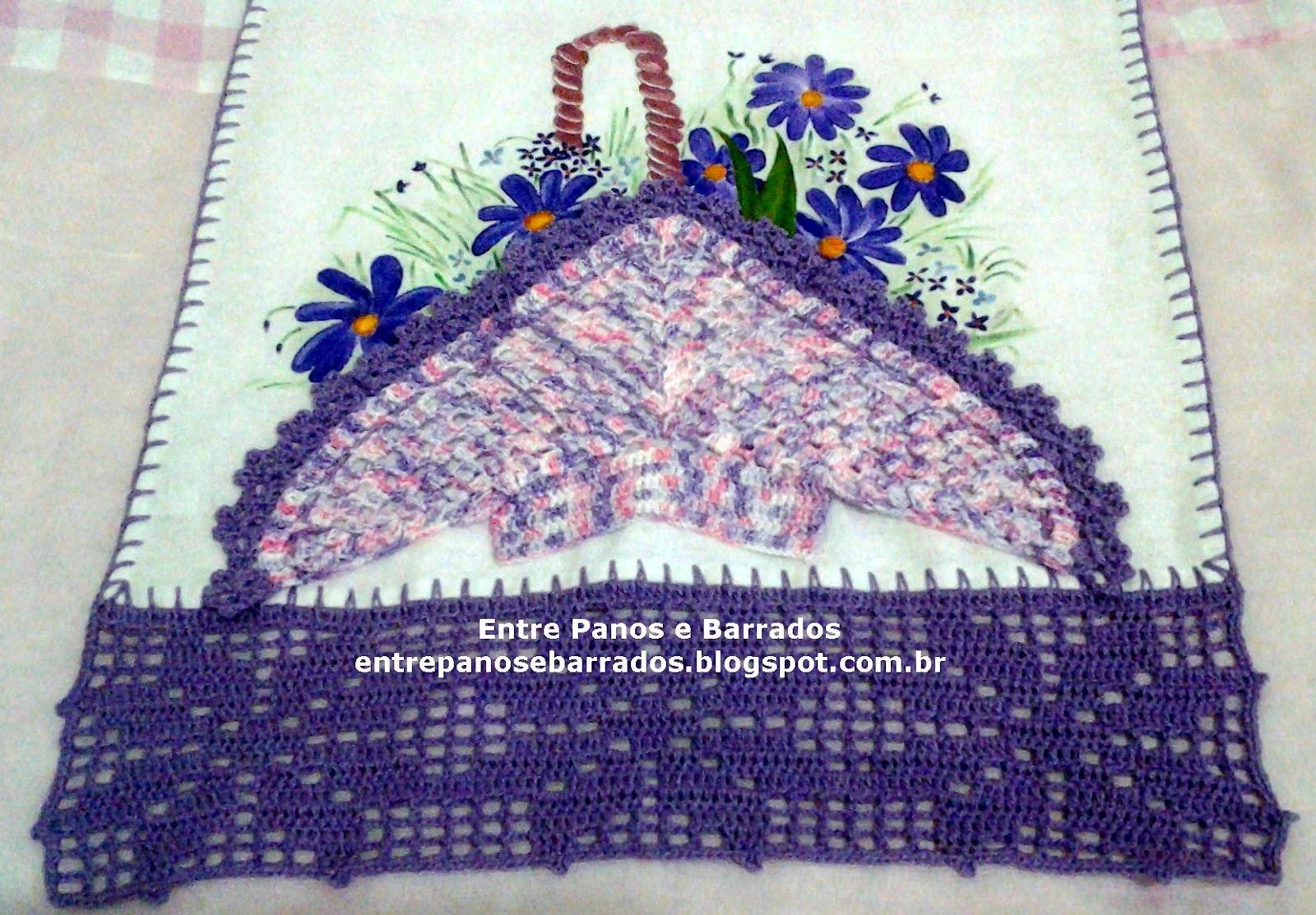 crochê hoje e apliquei a cesta de crochê também.Particularmente