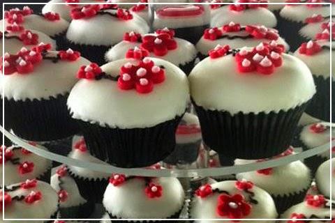 Cupcakes de Boda Rojos, parte 2