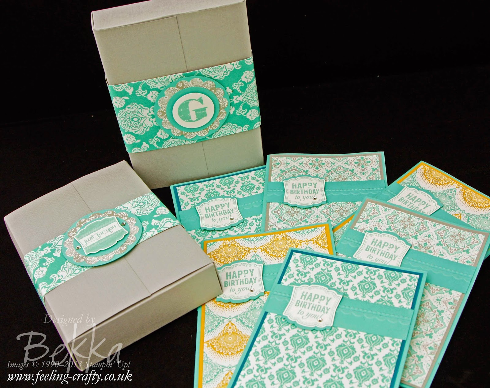 Cards featuring the Eastern Elegance Papers from Stampin' Up! UK Independent Demonstrator Bekka Prideaux
