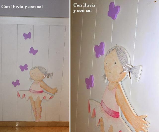 Con lluvia y con sol silueta infantil de madera - Siluetas madera infantiles ...