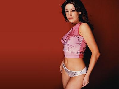 Kelly Brook Hot pink bikini Wallapaper