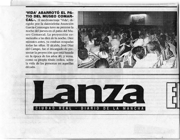 LANZA- POST ESTRENO DE VIDA