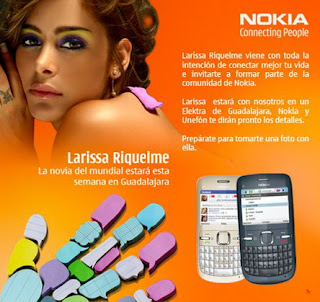 Video: Larissa Riquelme's breasts with Nokia C3
