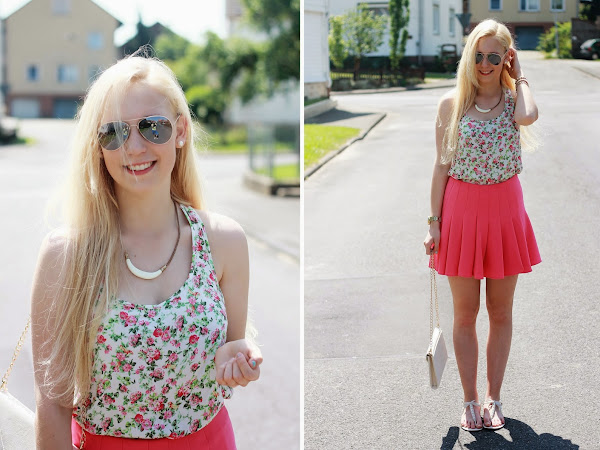 summer outfit / pink skirt