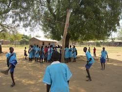 Tether Bottle at Juba Model Primary School