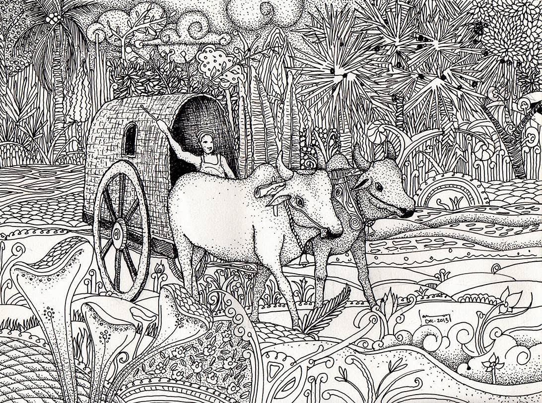 Bullock cart sanooj kj
