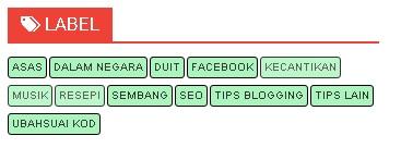 Cara menukar widget kategori dalam Blogger.